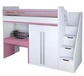 Polini Bett mit Schreibtisch und Schrank 1