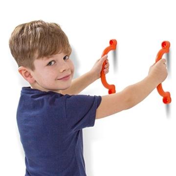 2er Set stabile Haltegriffe in orange aus PE inkl. Befestigungsmaterial! - 2