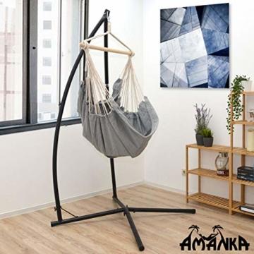 AMANKA Hängestuhlgestell 215cm Hängesesselständer Stand aus Stahl Belastbarkeit max. 120KG Freistehendes Metall Gestell für Hängesessel Hängestühle Hängesitz - 2