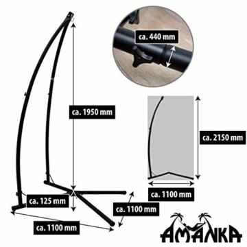 AMANKA Hängestuhlgestell 215cm Hängesesselständer Stand aus Stahl Belastbarkeit max. 120KG Freistehendes Metall Gestell für Hängesessel Hängestühle Hängesitz - 5