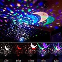 Amouhom Sternenhimmel Projektor Lampe mit Fernbedienung, LED Nachtlicht mit Wiederaufladbare Batterie 360 Drehen und Timing Schlaflicht für Kinders Schlafzimmer Romantische Geschenke für Frauen - 4