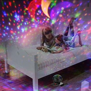 Amouhom Sternenhimmel Projektor Lampe mit Fernbedienung, LED Nachtlicht mit Wiederaufladbare Batterie 360 Drehen und Timing Schlaflicht für Kinders Schlafzimmer Romantische Geschenke für Frauen - 5