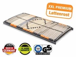 BMM Lattenrost XXL 7-Zonen, geräuschlose Trio HQ-Kappen, Antirutsch-Bolzen, SchulterPLUS Zone (+10mm Einsinktiefe), extrem belastbar bis 180kg, 90x200 cm - 1
