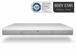Body-Star Classic line - Die vielleicht Beste Matratze der Welt: 90x200cm, 7-Zonen Wendematratze, 2 Liegehärten (H2 & H3) für alle Körpertypen geeignet, Oeko-TEX 100, TÜV Zertifiziert - 1