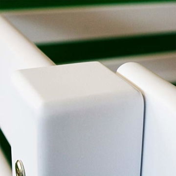 Bubema Maja Kinder Etagenbett/Hochbett, Buche massiv, mit oder ohne Rutsche, verschiedene Farben Farbe Weiß lackiert, Größe Mit Rutsche - 5