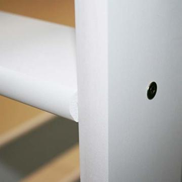 Bubema Maja Kinder Etagenbett/Hochbett, Buche massiv, mit oder ohne Rutsche, verschiedene Farben Farbe Weiß lackiert, Größe Mit Rutsche - 6