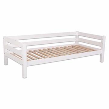 Bubema Maja Kinder Etagenbett/Hochbett, Buche massiv, mit oder ohne Rutsche, verschiedene Farben Farbe Weiß lackiert, Größe Mit Rutsche - 2