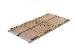 DaMi Lattenrost Basic (Zerlegt) 140 x 200 cm - 7 Zonen Lattenrahmen Aus Buche Mit 5-Fach Härteverstellung - Starr - 1