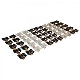 DaMi Rollrost RolloTel 140 x 200 cm - 5 Zonen Lattenrost Mit Tellermodulen & Individueller Härteverstellung - 1