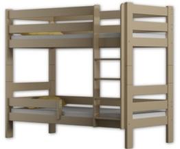 Etagenbett Sophie, für zwei Schlafende, Bettrahmen aus Kiefernholz, 180 x 80 cm, holz, vanille, 180x80 - 1
