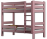 Etagenbett Sophie, für zwei Schlafende, Bettrahmen aus Kiefernholz, 180 x 80 cm, holz, rose, 180x80 - 1
