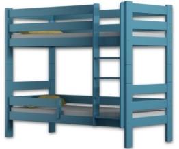 Etagenbett Sophie, für zwei Schlafende, Bettrahmen aus Kiefernholz, 180 x 80 cm, holz, blau, 180x80 - 1