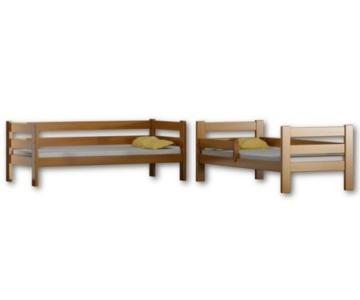 Etagenbett Sophie, für zwei Schlafende, Bettrahmen aus Kiefernholz, 180 x 80 cm, holz, rose, 180x80 - 2