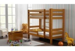 Etagenbett Sophie, für zwei Schlafende, Bettrahmen aus Kiefernholz, 180 x 80 cm, holz, Erle, 180x80 - 1
