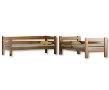 Etagenbett Sophie, für zwei Schlafende, Bettrahmen aus Kiefernholz, 180 x 80 cm, holz, Erle, 180x80 - 2