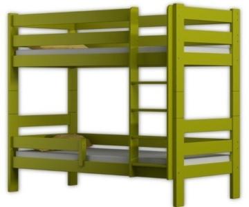 Etagenbett Sophie, für zwei Schlafende, Bettrahmen aus Kiefernholz, 180 x 80 cm, holz, grün, 180x80 - 1