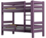 Etagenbett Sophie, für zwei Schlafende, Bettrahmen aus Kiefernholz, 180 x 80 cm, holz, violett, 180x80 - 1