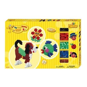 Hama 8712 - Gigantische Geschenkpackung, ca. 900 Maxi-Bügelperlen, 2 Stiftplatten und Zubehör - 1