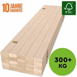 Hansales Rollrost 140x200cm - 300 kg 25 Leisten - Hochwertiger Extra starker Rollattenrost aus echtem Birkenholz - FSC Lattenrost unbehandelt - Lattenrollrost Premium - 1