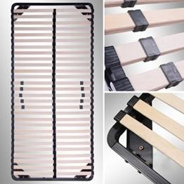 i-flair® Lattenrost 90x200 cm, Lattenrahmen - für alle Matratzen geeignet - alle Größen - 1