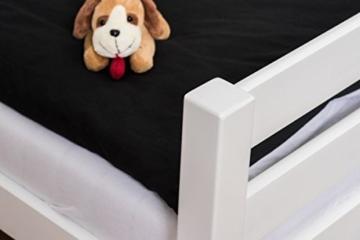 Kinderbett Etagenbett Pauli Buche Vollholz massiv weiß lackiert mit Regal und Rutsche inkl. Rollrost - 90 x 200 cm, teilbar - 5