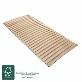 MaDeRa Natura Federleisten Rollrost, extrem stabil, aus Birkenschichtholz auch für Wohnmobile Größe 140x200 - 1
