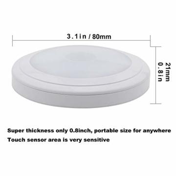 [neue Version] SOAIY 3er-Set LED Nachtlicht mit Touchsensor Dimmbar Batteriebetrieben Touch Lampe Schrankleuchte Küchenlampe Memory-Funktion Warmweiß 2700K - 6