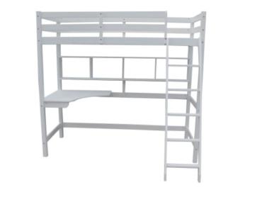 Noa and Nani Hochbett High sleeeper mit Schreibtisch in weiß, New York 2'6Loft Bett - 2