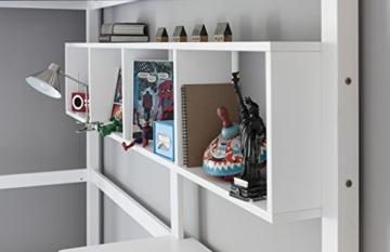 Noa and Nani Hochbett High sleeeper mit Schreibtisch in weiß, New York 2'6Loft Bett - 3
