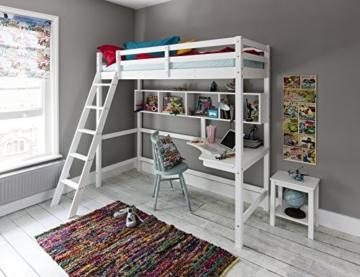 Noa and Nani Hochbett High sleeeper mit Schreibtisch in weiß, New York 2'6Loft Bett - 1