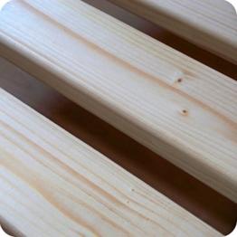Qualitätsmarkenprodukt TUGA - Holztech stabilstes einlegefertiges unbehandeltes Naturprodukt Rollrost Lattenrost 140x200cm weit über 300Kg Flächenlast Qualitätsarbeit aus Deutschland mit 10 Jahren Garantie inkl Befestigungskit benötigt KEINE Mittelleiste im Bett - 1