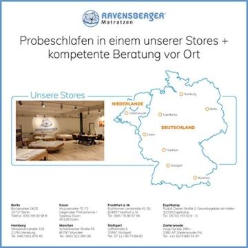 Ravensberger Matratzen Natur-Latex 7-Zonen-Premium-Latexmatratze | H2 RG 75 (45-80 kg) | Made IN Germany | LATEXCO®-Stiftlatex mit 85% Naturkautschuk | Baumwoll-Doppeltuch-Bezug | 90 x 200 cm - 6