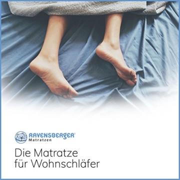 Ravensberger Matratzen Natur-Latex 7-Zonen-Premium-Latexmatratze | H2 RG 75 (45-80 kg) | Made IN Germany | LATEXCO®-Stiftlatex mit 85% Naturkautschuk | Baumwoll-Doppeltuch-Bezug | 90 x 200 cm - 7