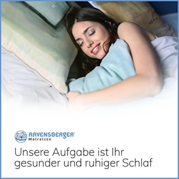 Ravensberger Matratzen Natur-Latex 7-Zonen-Premium-Latexmatratze | H2 RG 75 (45-80 kg) | Made IN Germany | LATEXCO®-Stiftlatex mit 85% Naturkautschuk | Baumwoll-Doppeltuch-Bezug | 90 x 200 cm - 8