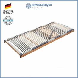 RAVENSBERGER MEDIMED® 44-Leisten 7-Zonen-BUCHE-Lattenrahmen | Starr | Made IN Germany - 10 Jahre GARANTIE | TÜV/GS + Blauer Engel - Zertifiziert | 140 x 200 cm - 1