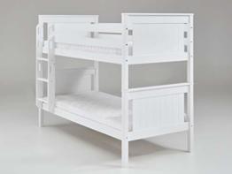 Relita Bett Etagenbett Mia Kinderbett Weiß 90x200cm mit Leiter - 1