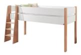 Relita BH1631178 Halbhohes Spielbett SAM Buche Natur lackiert mit MDF weiß lackiert mit Liegefläche 90 x 200 cm, 208 x 113 x 120 cm - 1