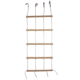 small foot 6122 Kletterwand mit 4 stabilen Seilen und 5 Holzstangen - 1