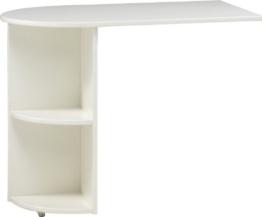 Steens Anbau-Schreibtisch mit Regal for Kids MDF Wei? deckend|MDF Wei? deckend - 1