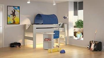 Steens For Kids Anbauschreibtisch für Kinderbett, Hochbett, ausziehbar, 60 x 72 x 92 cm (B/H/T), MDF, weiß - 2