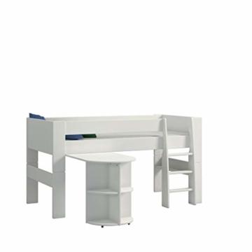 Steens For Kids Anbauschreibtisch für Kinderbett, Hochbett, ausziehbar, 60 x 72 x 92 cm (B/H/T), MDF, weiß - 3