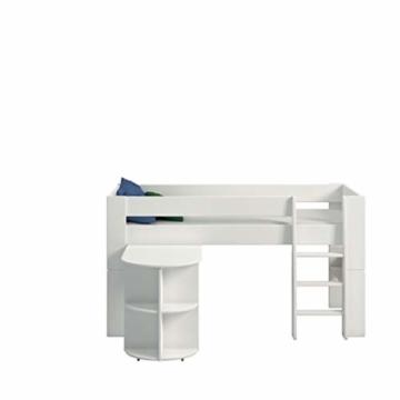 Steens For Kids Anbauschreibtisch für Kinderbett, Hochbett, ausziehbar, 60 x 72 x 92 cm (B/H/T), MDF, weiß - 4