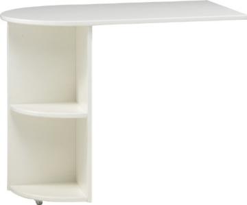 Steens For Kids Anbauschreibtisch für Kinderbett, Hochbett, ausziehbar, 60 x 72 x 92 cm (B/H/T), MDF, weiß - 1