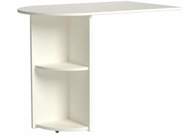 Steens For Kids Anbauschreibtisch für Kinderbett, Hochbett, ausziehbar, 60 x 72 x 92 cm (B/H/T), MDF, weiß - 5