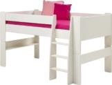 Steens For Kids Kinderbett, Hochbett, inkl. Lattenrost und Absturzsicherung, Liegefläche 90 x 200 cm, MDF, weiß - 1