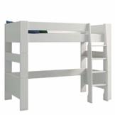 Steens For Kids Kinderbett, Hochbett, inkl. Lattenrost und Absturzsicherung, Liegefläche 90 x 200 cm, MDF, weiss - 1