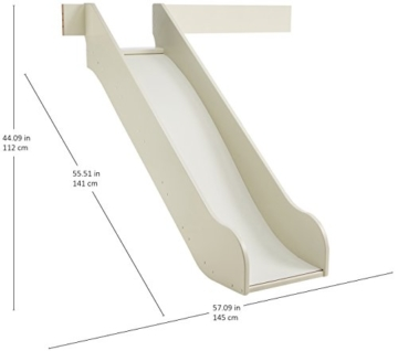 Steens For Kids Rutsche für Kinderbett, Hochbett, inkl. Absturzsicherung, 145 x 112 x 141 cm (B/H/T), MDF , weiß - 6