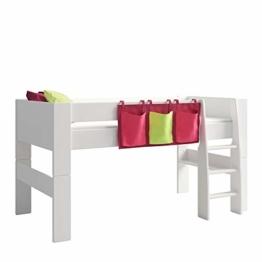 Steens For Kids Utensilo,Taschenset für Kinderbett, Hochbett, 93 x 38 x 1 cm (B/H/T), Baumwolle, Lila - 1