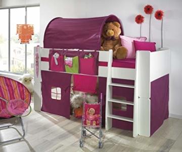 Steens For Kids Utensilo,Taschenset für Kinderbett, Hochbett, 93 x 38 x 1 cm (B/H/T), Baumwolle, Lila - 2