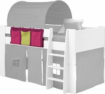 Steens For Kids Utensilo,Taschenset für Kinderbett, Hochbett, 93 x 38 x 1 cm (B/H/T), Baumwolle, Lila - 3